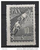 Finlande 1947 N°323 Neuf** MNH Paix - Neufs