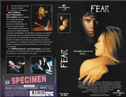 """""""FEAR"""" -jaquette SPECIMEN Originale CIC VIDEO -thriller - Horror"""