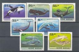 GUINEA BISSAU 1984 - FAUNA BALLENAS - YVERT 307/313** - Guinea-Bissau