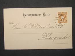 GANZSACHE Graslitz - Klingenthal 1885   ///// F3361 - Cartas