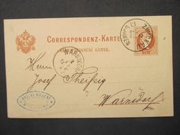GANZSACHE Zwickau Böhmen - Cvikov - Warnsdorf 1880  ///// F3365 - Cartas