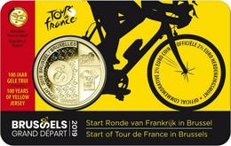 2,5 EUROS BELGICA 2019 COIN CARD TOUR FRANCE MAILLOT AMARILLO V. HOLANDA - Bélgica