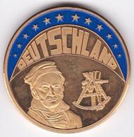 Deutschland Ecu 1994 CARL FRIEDRICH GAUSS, En Cuivre Nickel Couleur Plaquée Or - Alemania