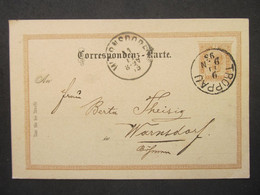GANZSACHE Troppau Opava - Warnsdorf 1880  ///// F3367 - Cartas