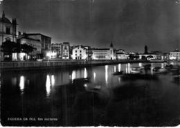 PORTUGAL ( Coimbra ) FIGUEIRA DA FOZ : Um Nocturno - CPSM Dentelée Noir Blanc Grand Format 1959 - - Coimbra