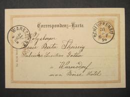 GANZSACHE Schluckenau - Warnsdorf 1896  ///// F3369 - Cartas