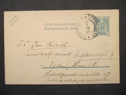 GANZSACHE Dobrowitz Dobrovice - Wien 1906  ///// F3382 - Cartas