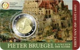MONEDA DE 2 EUROS BELGICA 2019 COIN CARD PIETER BRUEGHEL VERSION FRANCESA - Bélgica