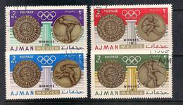 AJMAN 1968 VINCITORI DI MEDAGLIE D'ORO AI GIOCHI OLIMPICI IN MESSICO YVERT. 88 USATA - Ajman