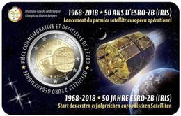 MONEDA DE 2 EUROS BELGICA 2018 COIN CARD SATELITE ESRO 2B VERSION FRANCESA - Bélgica