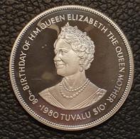"Tuvalu 10 Dollars 1980 ""80th Birthday Of Queen Mother"" - Tuvalu"