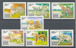 GUINEA BISSAU 1984 - FAUNA FELINOS 7 SELLOS - YVERT Nº 289-295** - Guinea-Bissau