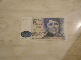 SPAIN    500    PESETAS    BILLET   -  UNC  -  NEUF - [ 4] 1975-… : Juan Carlos I