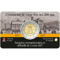 MONEDA DE 2 EUROS BELGICA 2017 COIN CARD UNIVERSIDAD DE LIEJA VERSION FRANCESA - Bélgica