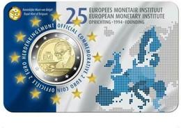 COIN CARD BELGICA 2019 25 ANIVERSARIO INSTITUTO MONETARIO EUROPEO V. HOLANDESA - Bélgica