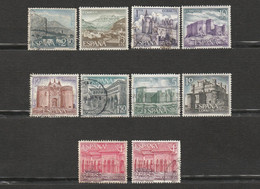 Espagne - Lot De 10 Timbres - Les Chateaux - Pedraza, Segovia, Guadamur, Toledo, Merueli, Servando, Grenada, Santander - Sammlungen