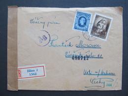 BRIEF Zilina - Usti Nad Orlici  1944   ///// G4745 - Cartas
