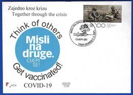 Think Of Others, Get Vaccinated!, Coronavirus COVID-19 / Vaccine, Needle, Syringe, Health, Disease / Croatia Zagreb 2021 - Enfermedades