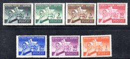 574/1500 - ALBANIA 1947 , Serie Yvert N. 347/353  *  Linguellato. Giochi - Albania