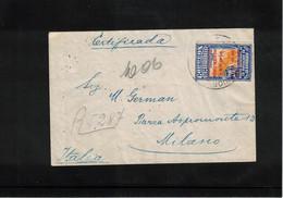 Ecuador 1936 Interesting Registered Letter To Italy - Equateur