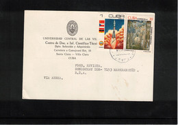 Cuba 1980 Interesting Postcard To Germany DDR - Lettres & Documents