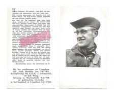 D 461. JAN PETERS - Dienstplichtige Bij U.D.A. (Luchtmacht), 10e J.B. Wing - °Martenslinde 1936 / +Usumbura 1960 - Devotion Images