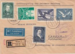 Österreich Luftpost Brief 1951 Vogel - Poste Aérienne