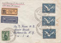 Österreich Luftpost Brief 1954 Vogel - Poste Aérienne