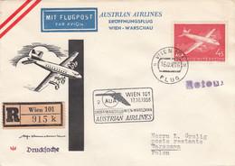 Österreich Luftpost Brief 1958 - Poste Aérienne