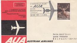 Österreich Luftpost Brief 1963 - Poste Aérienne