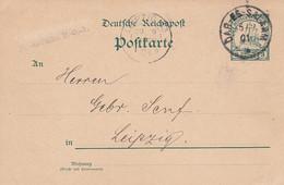 Deutsches Reich DOA Postkarte 1901 - Colony: German East Africa