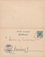 Deutsches Reich Kolonien Marshall Inseln Postkarte P7 F + A 1901 - Colony: Marshall Islands
