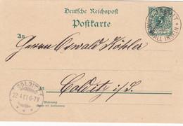 Deutsches Reich Kolonien Marshall Inseln Postkarte P5 1901 - Colony: Marshall Islands