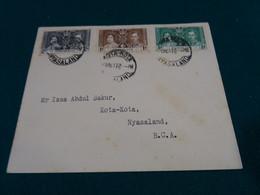 Nyasaland 1937 Coronation Register FDC - Nyassaland (1907-1953)