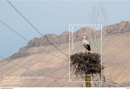Azerbaijan Stamps 2019 The Nature Of Nakhchivan. White Stork Birds - Azerbaïdjan