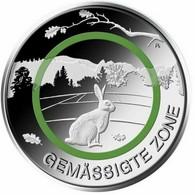 ALEMANIA 5 EUROS 2019 CECA F ZONA TEMPLADA POLIMERO DE COLOR VERDE CONEJO - Alemania