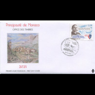 Monaco 2021 Speech Ocean Prince ALBERT 2022 WASHINGTON 1921 Whale Fish 1v FDC PJ - FDC