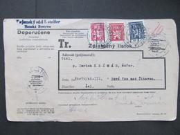 BRIEF Banska Bystrica Dodejka 1947 Nova Ves Nad Zitavou   ///// G4955 - Cartas