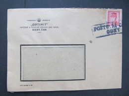 BRIEF Odry Provisorium 1945 ///// G4965 - Cartas