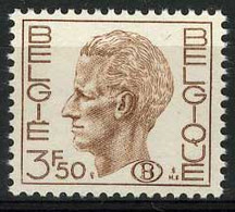 België S64P2 ** - Koning Boudewijn - Type Elström - 3,50 Bruin - WIT Papier - BLANC - Dienstzegels - Timbres De Service - Service