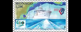 Monaco 2021 Hydrographic Organization 1921 Seabed Topography Boat Ship 1v Mnh - Nuovi