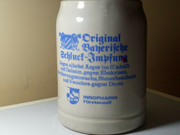 CHOPE A BIERE. ORIGINAL BAYERIFCHE. INROPHARM FURSTENZELL - Cups