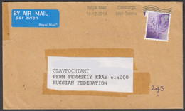 2015-COVER FROM UK/BLACKBURN TO RUSSIA - Storia Postale