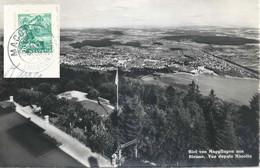 """AK  """"Biel Von Magglingen Aus""""  (Macolin (Magglingen))            1949 - Briefe U. Dokumente"""
