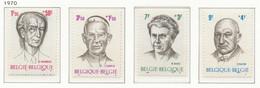 D - [150808]SUP//**/Mnh-N° 1557/60, Philantropique, Personnalités Belges, SNC - Unused Stamps