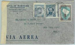93950 - ARGENTINA - POSTAL HISTORY -  CENSORED  Cover  To The USA  1942 - Briefe U. Dokumente