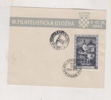 CROATIA WW II, EXPO 1943 FDC Cover  Hand & Machine Cancel - Croacia