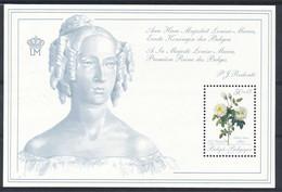 D - [152872]TB//**/Mnh-BL65, Fleurs, Roses De Redouté, Aimé Vibère, Sheet, Reine Louise-Marie, SNC - Blocks & Sheetlets 1962-....
