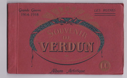 CARNET GEANT VERDUN Souvenir Les Ruines - Guerra 1914-18