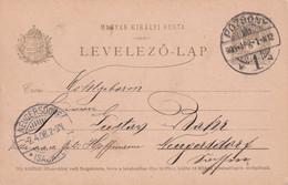 HONGRIE 1908 ENTIER POSTAL/GANZSACHE/POSTAL STATIONARY  CARTE DE POZSONY - Postal Stationery